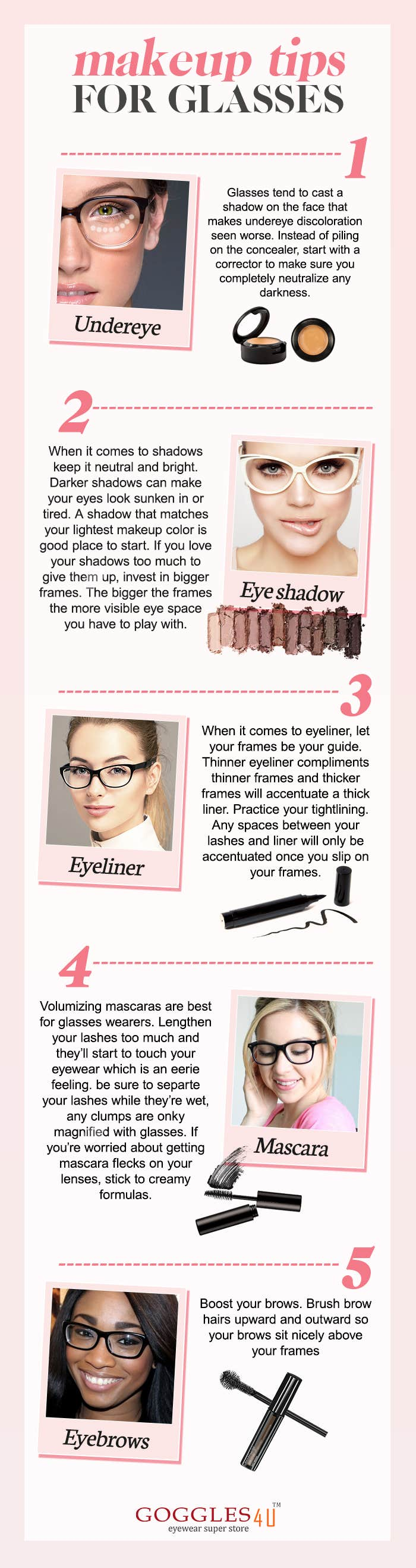 Makeup Tips For Girls Wearing Glasses