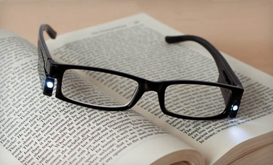 LED Light Reading Eyeglasses